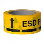 Клейкая лента желтого цвета с ESD-маркировкой VKG ESD A-7418