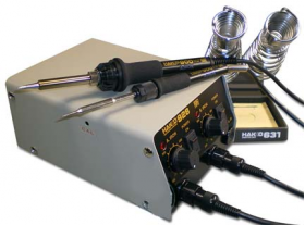 Антистатическая двухканальная паяльная станция Hakko 928 ESD